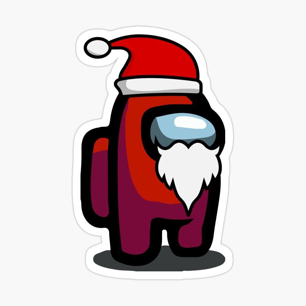 Among Us Red Santa Sticker By Omarfiras Cute Cartoon Wallpapers Cute Christmas Wallpaper Cartoon Wallpaper