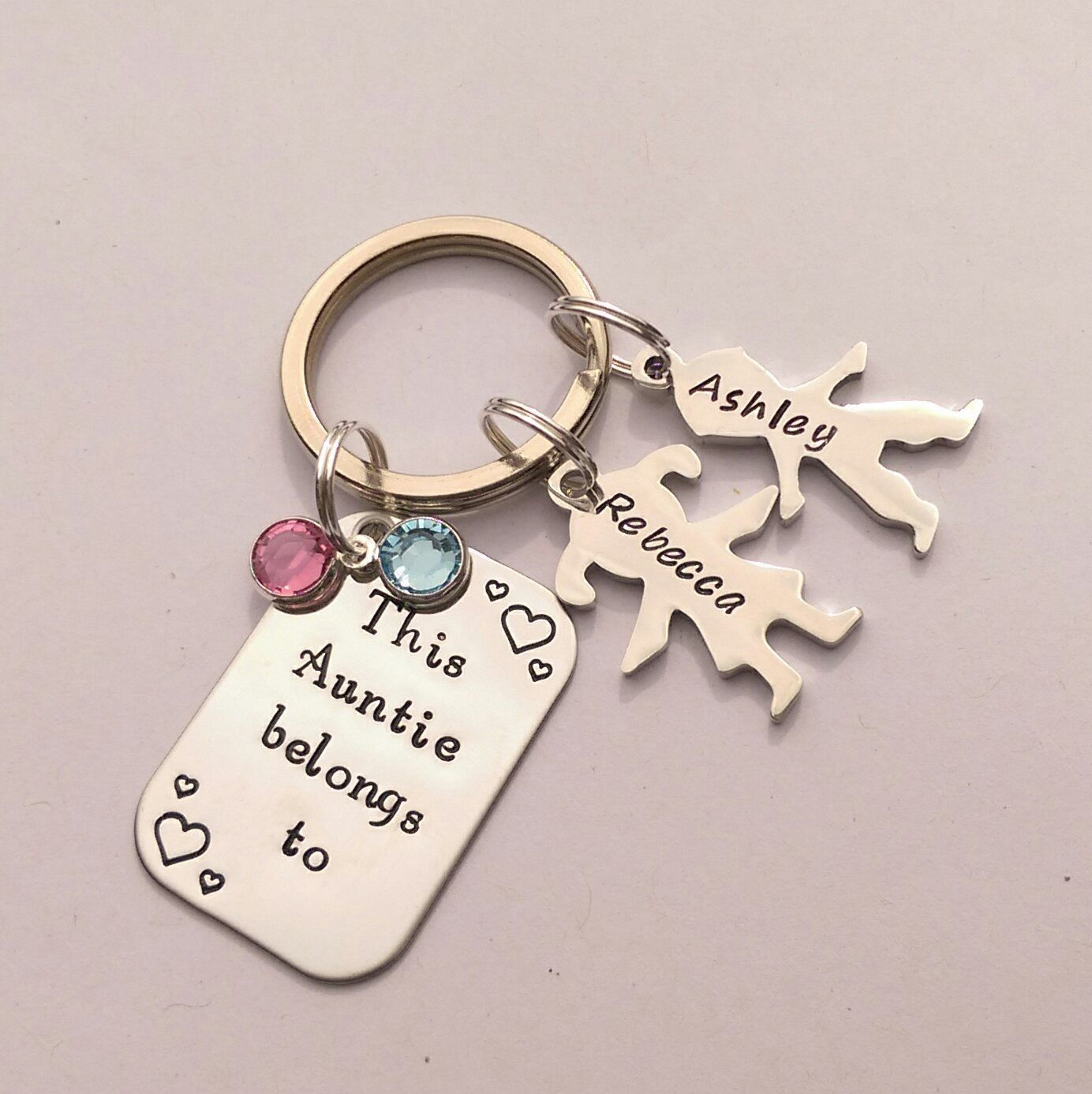 Personalised Auntie present - personalized Auntie keychain gift - This Aunt  Auntie belongs to - personalised Auntie keyring gift by EmsStampedJewellery  on ... 5d2222067417