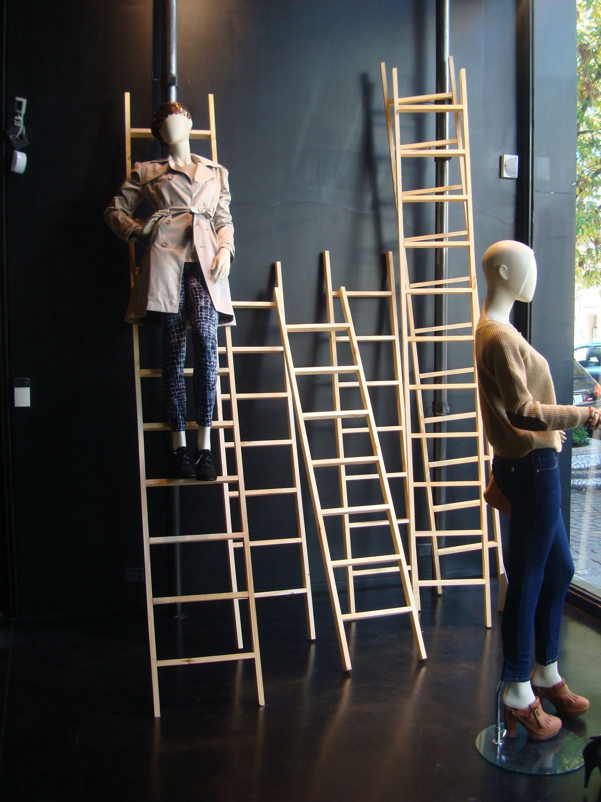 Great display using just simple ladders