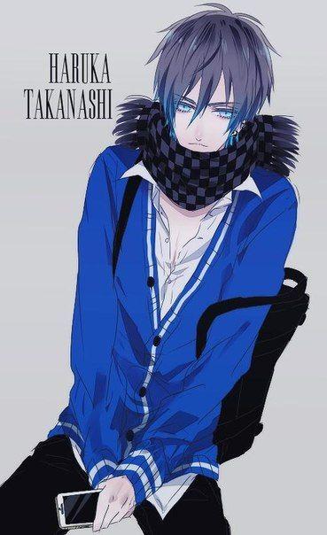 Haruka Takanashi Anime Guys Shirtless Cosplay Anime