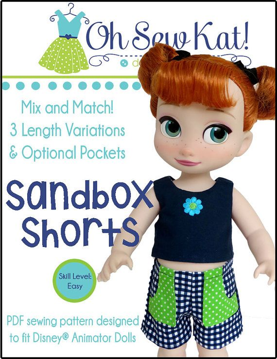 Disney Animator Doll Clothes Sewing Pattern for 16 inch Disney ...