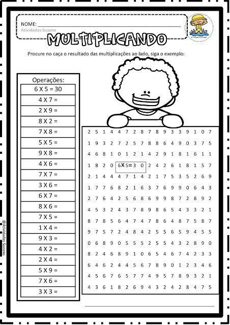 Multiplicando Em Pdf Atividades Adriana Math Games Multiplication Learning Math