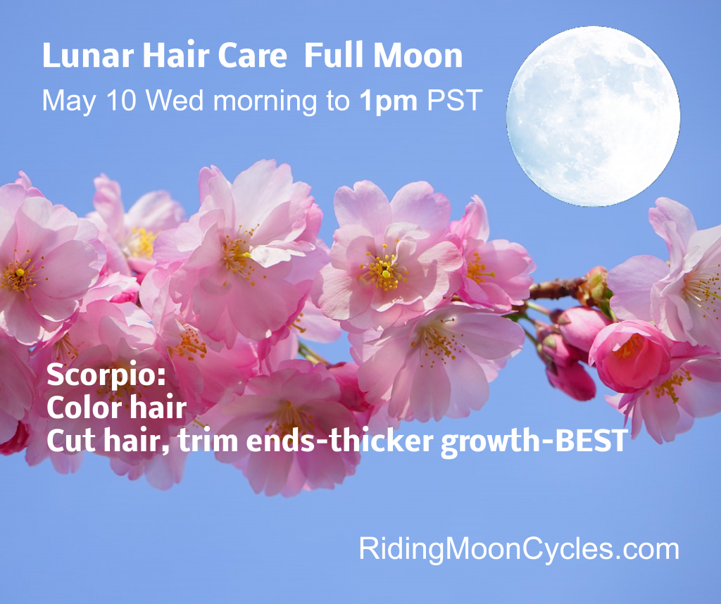 The Lunar Hair Chart For This Coming Full Moon On Wednesday May 10