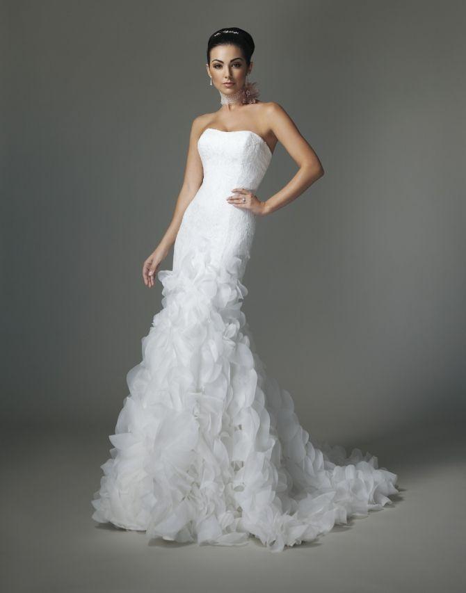 Justin Alexander 6252 in size 8 in white $900   Wedding wishes ...