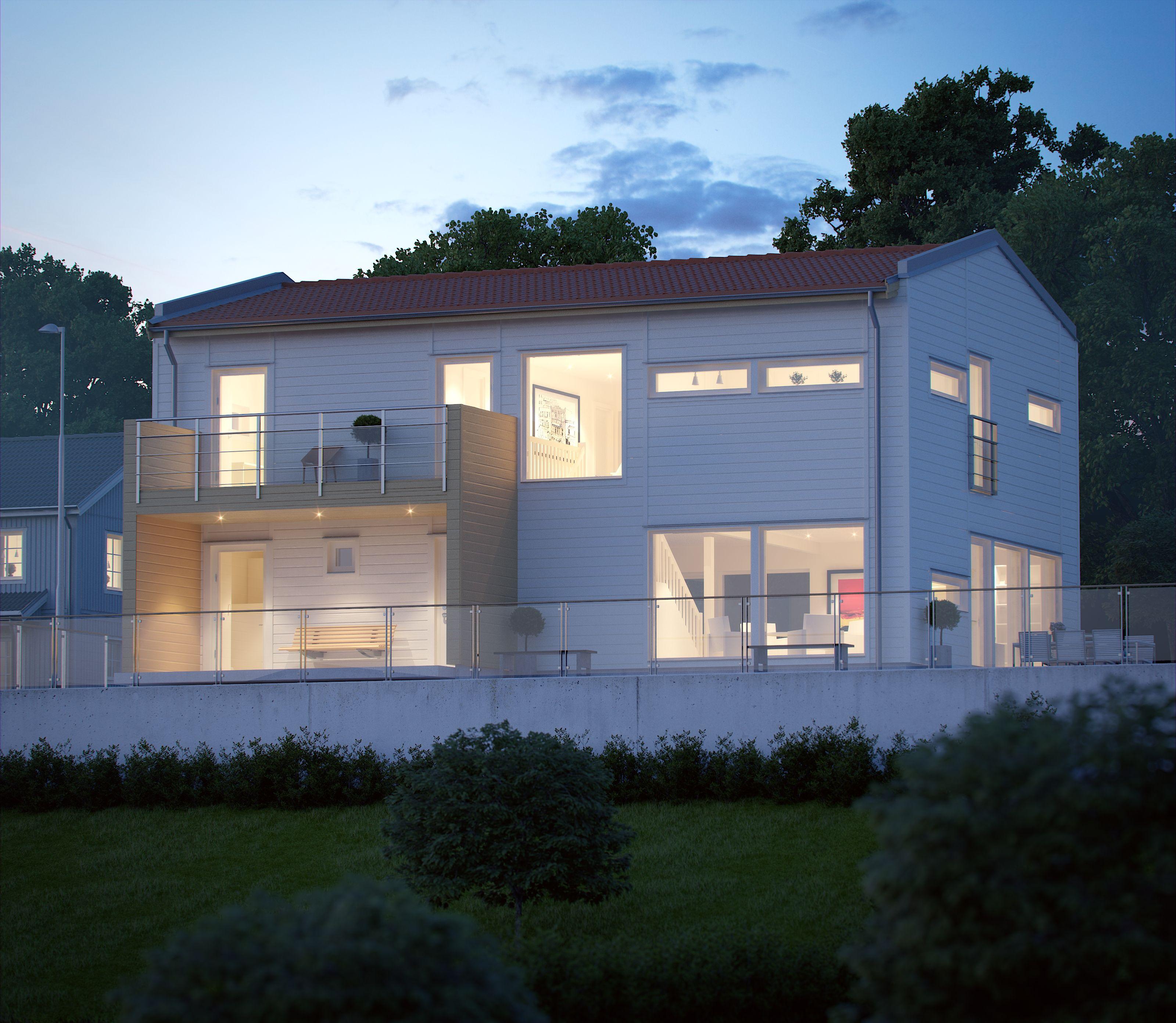 新築住宅の外観アイディア10選 箱型なナウトレンドデザイン: Stångskär
