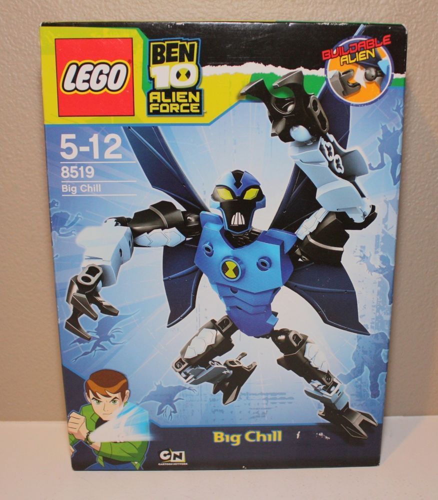 Lego Ben 10 Alien Force 8519 Big Chill Sealed Lego Custom Minifigures Ben 10 Alien Force Cool Lego Creations