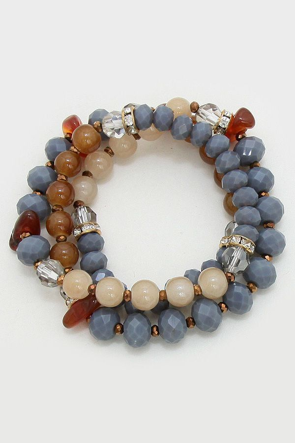 Riviera Bracelet in Honey Agate