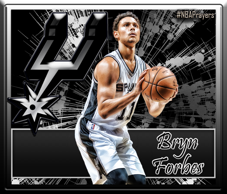 Nba Player Edit Bryn Forbes Spurs Basketball San Antonio Spurs Nba Players