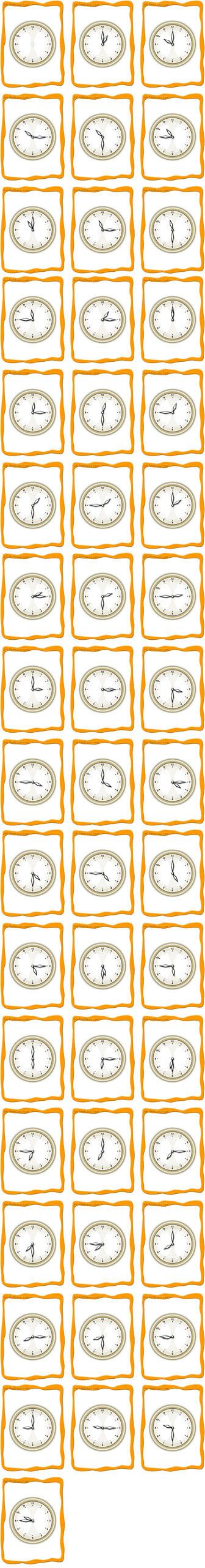 FlashCards for telling time...requires a download of a different PDF reader other than Adobe
