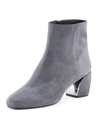 71d1188c61 Prada Suede Metal-Heel 55mm Boot | Style | Boots, Shoes, Prada