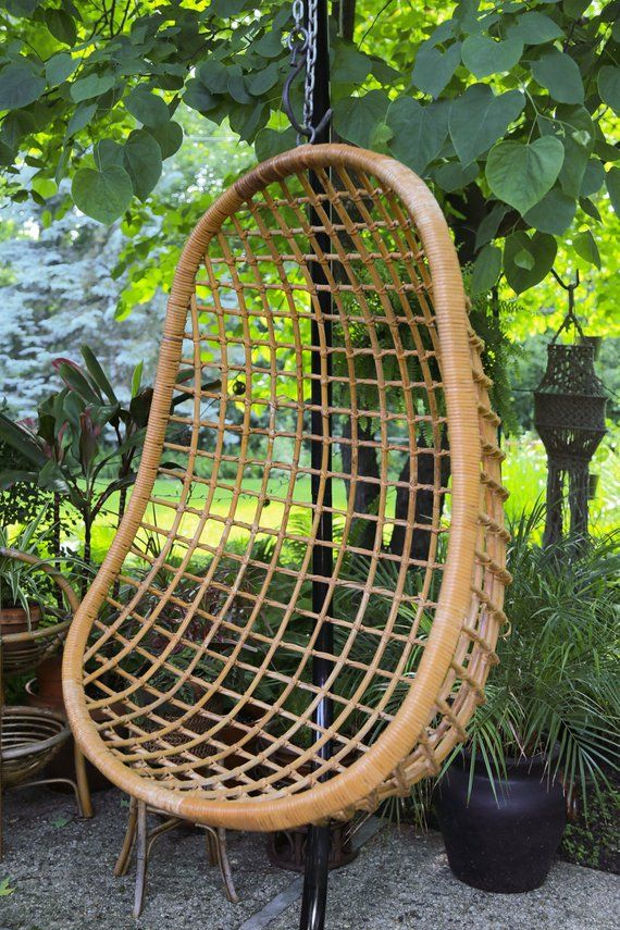 swing chair local homebase shipping not free vintage bamboo rattan hanging egg no stand pick up chica