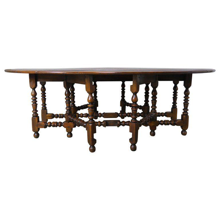 English Walnut Gate Leg Drop Leaf Table Drop Leaf Table Leaf