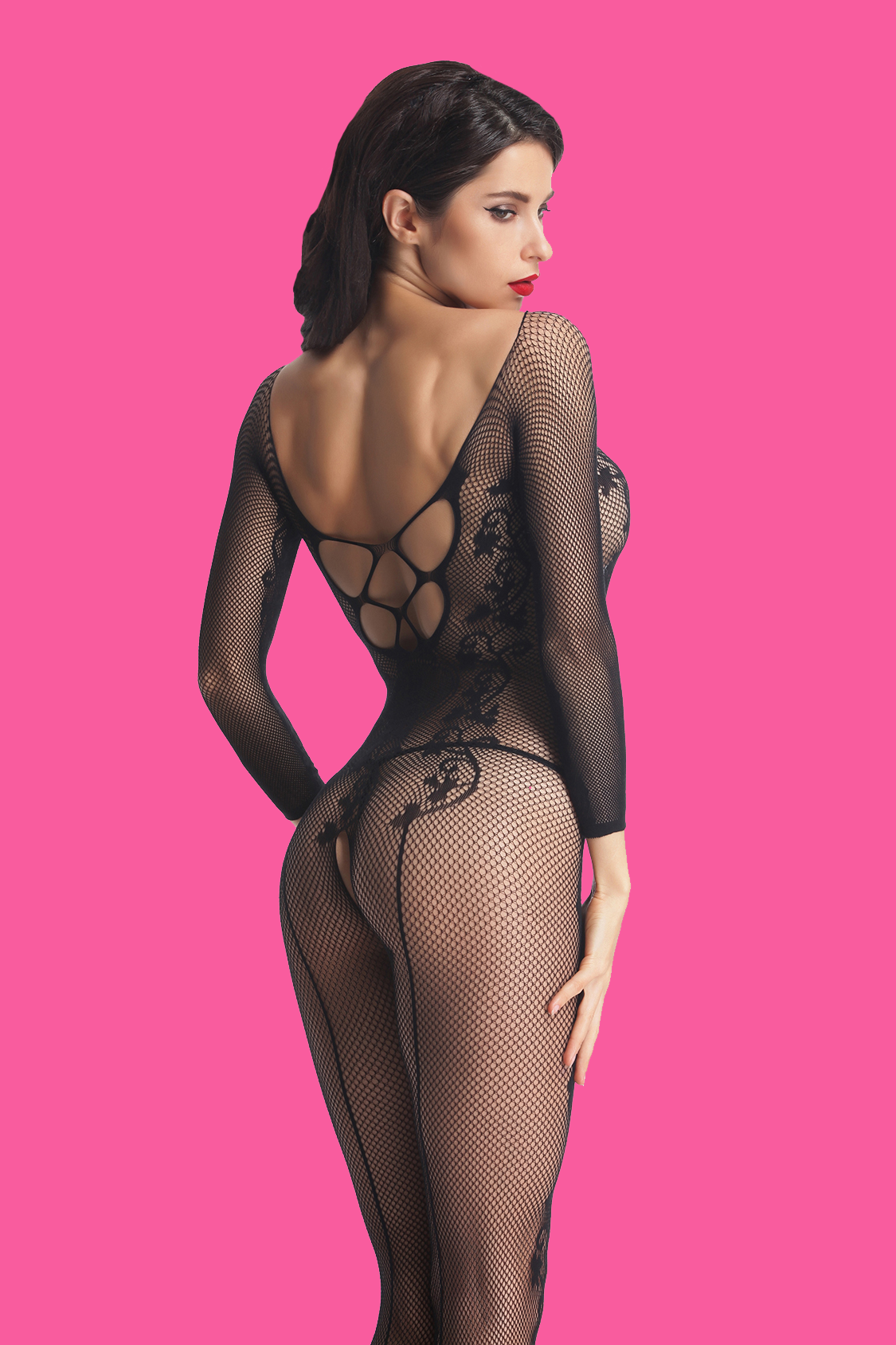 This #bodystocking comes with A stretchy revealing shape in beautiful floral lace, which shows off in a deep plunge front and daringly low-cut back with lots of straps. It makes women not only sexy but also comfortable. Repin for More.