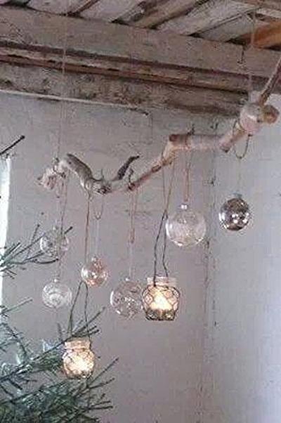 Foto Decoratie Tak Met Theelichtjes Leuk En Mooi Sfeertje Geplaatst Door Decoratietakken Nl Op Welke Nl Decoratie Theelichtjes Kerstdecor