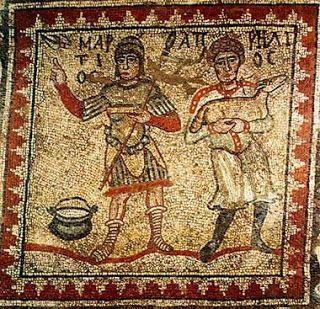 Pannello del mosaico delle Stagioni, Argo, ca. 500 / Panel from the Seasons' mosaic, Argos, ca. 500 AD