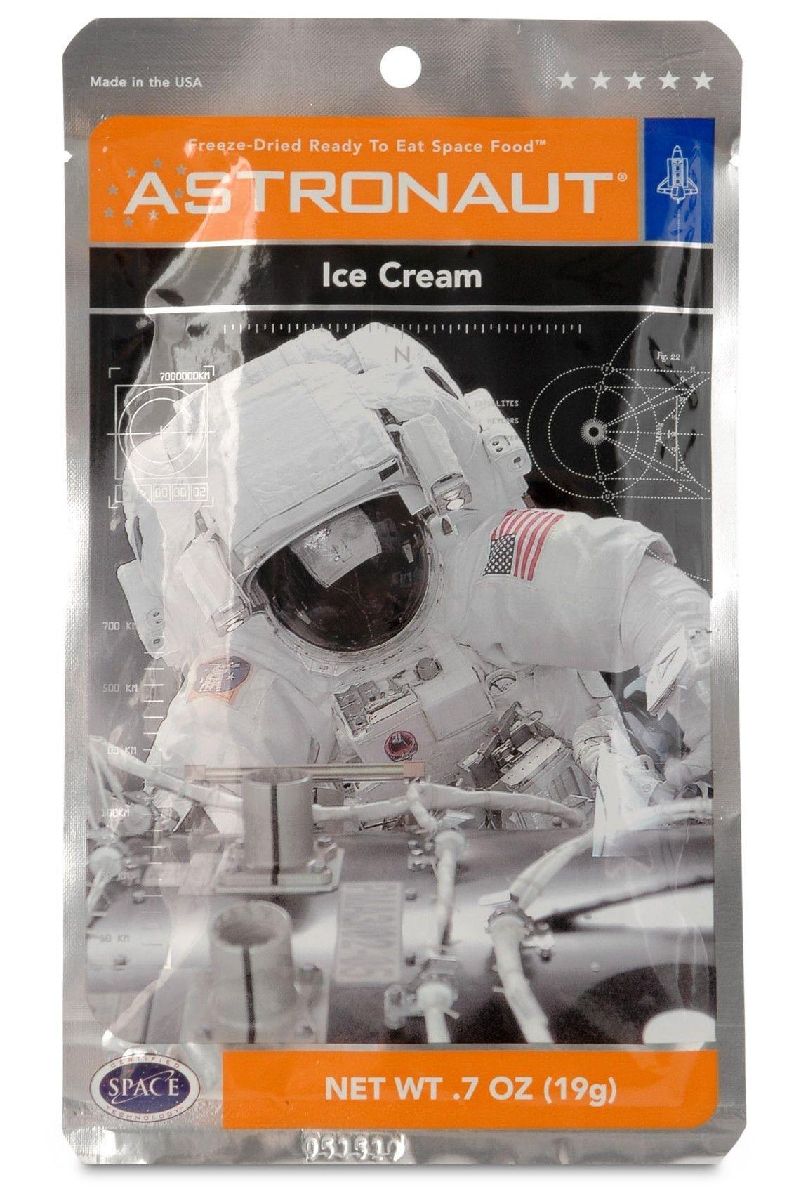 Astronaut space food ice cream sandwich freeze dried ice