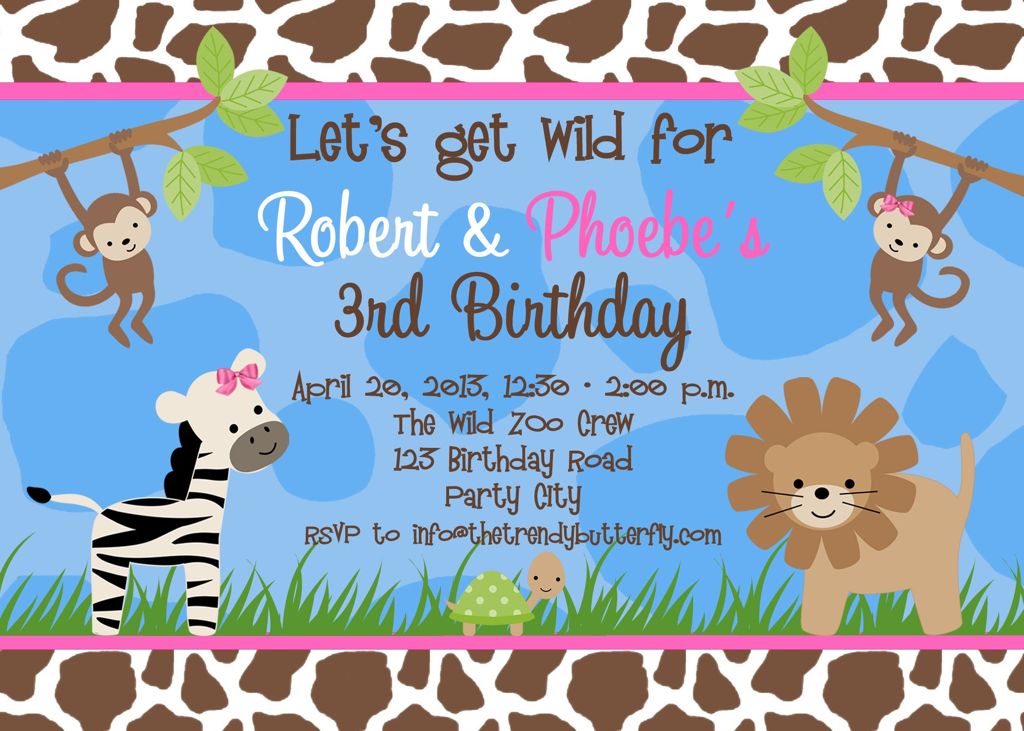 Free Birthday Party Invitation Templates | Party invitation ...