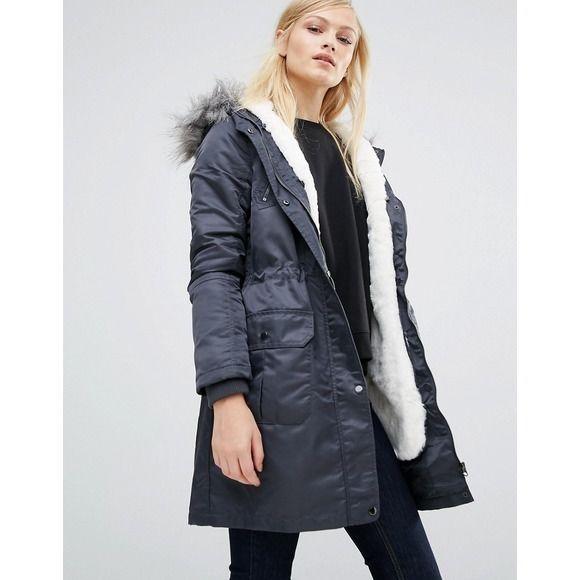 363eaaca0820 Grey Parka, Parka Coat, Winter Coats Women, Coats For Women, Winter Jackets