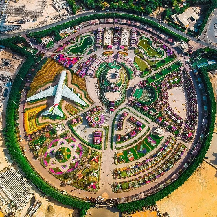 Dubai Miracle Garden is the world's largest natural