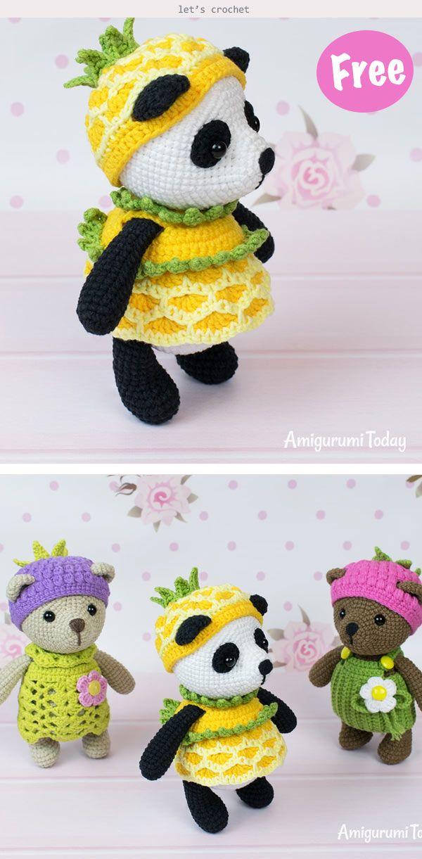 Sweet Panda Amigurumi Free Crochet Pattern