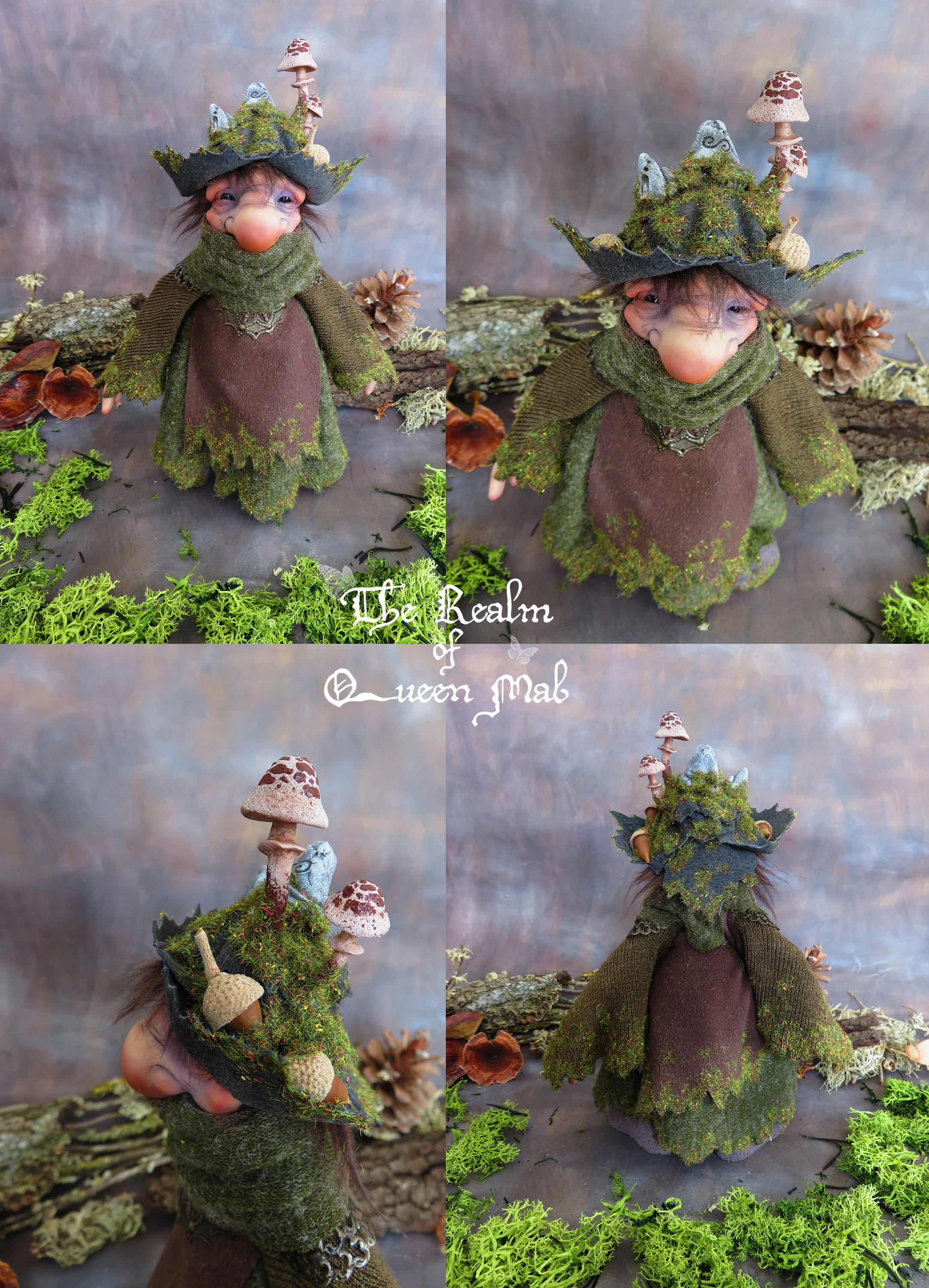 sculpture Fairy Polymerclay fantasy, Fairy Woods Enchanted Forest nature handmade hand made fairy