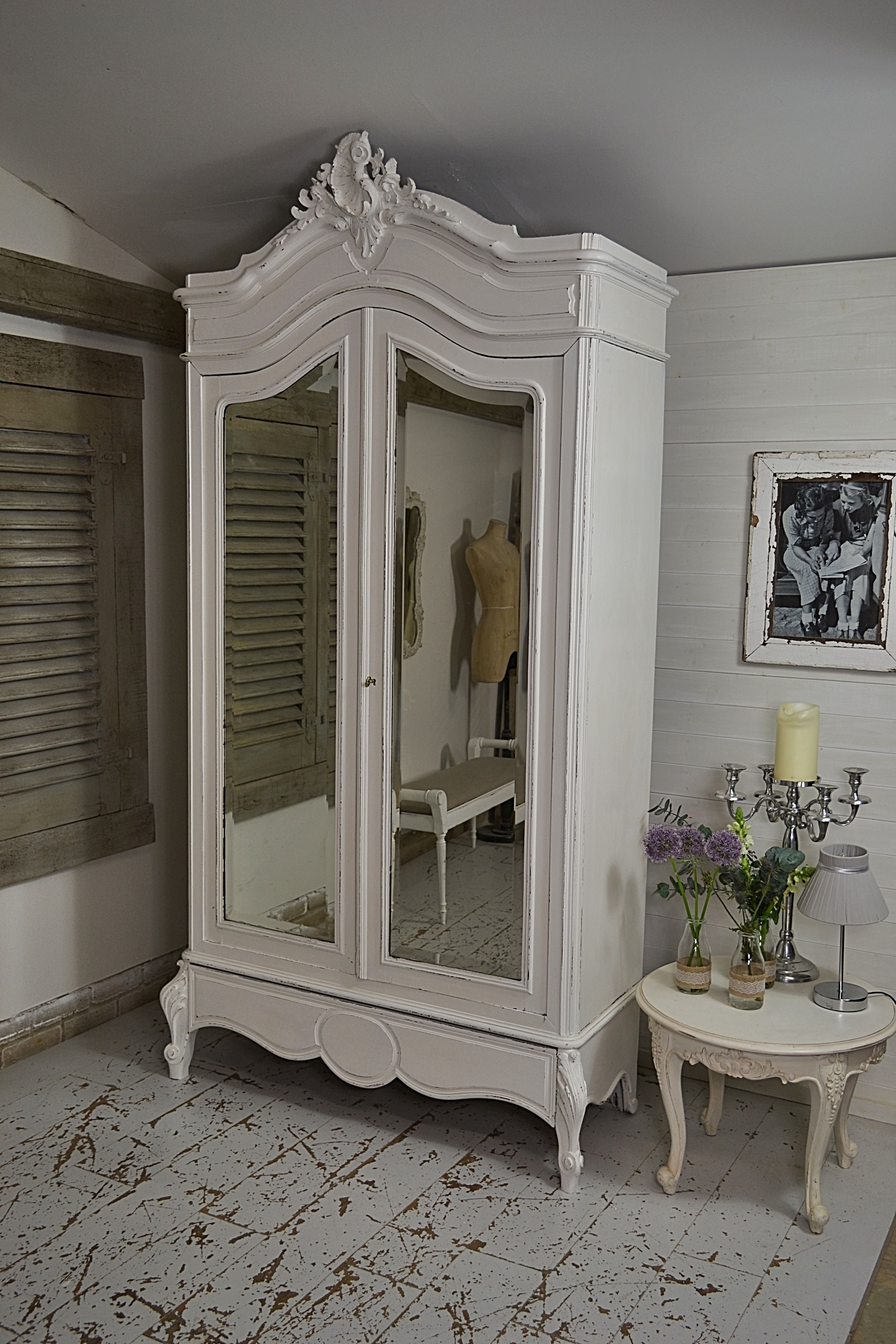 This Stunning French Armoire Has Been Kept Clean And Simple, Painted In  Farrow U0026 Ball All White And Lightly Distressed. Inside Weve Added A