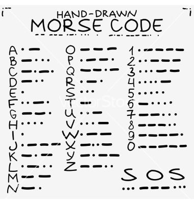 Handdrawn doodle sketch international morse code vector Kids - morse code chart