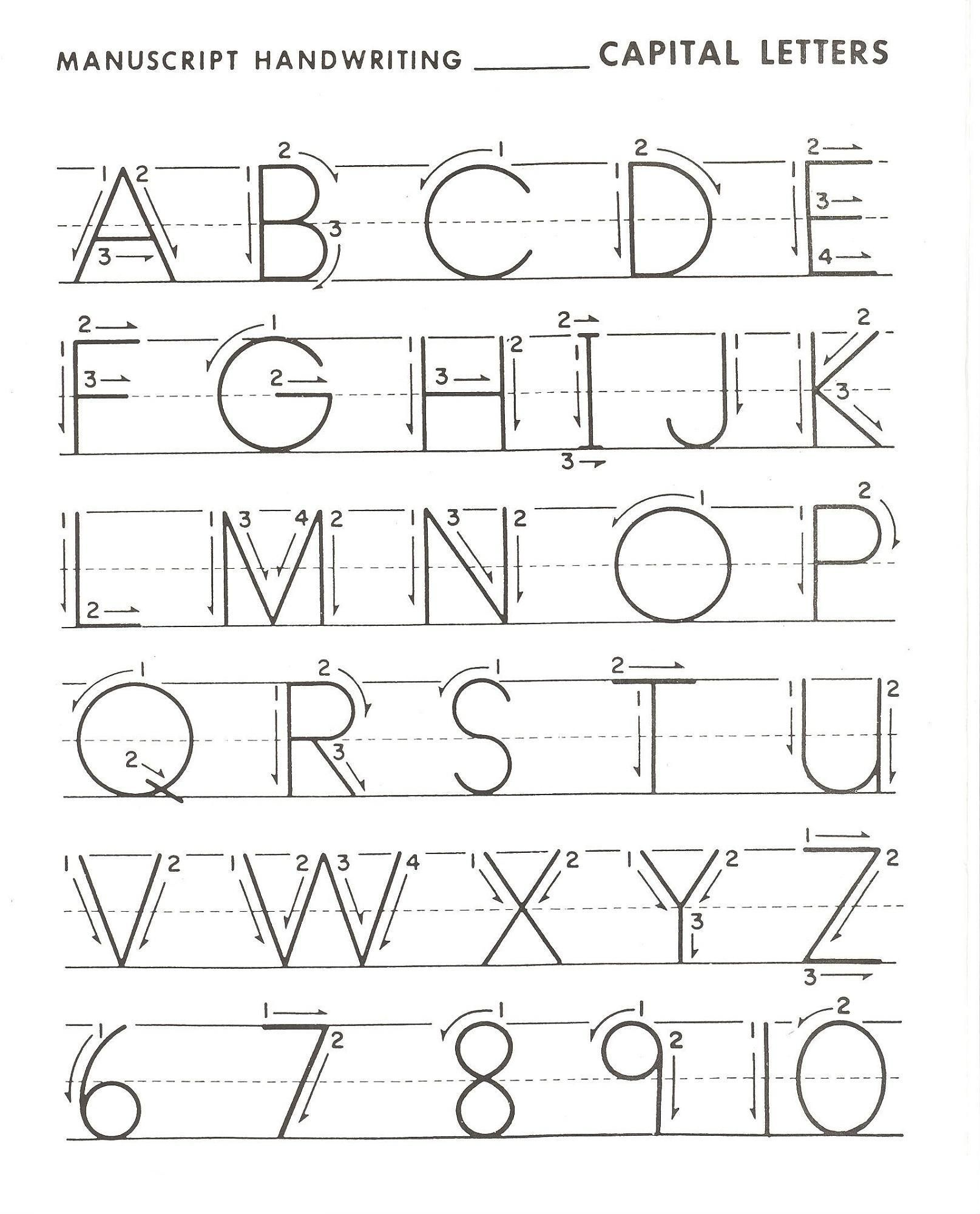 Alphabet Capital Letters Worksheet In