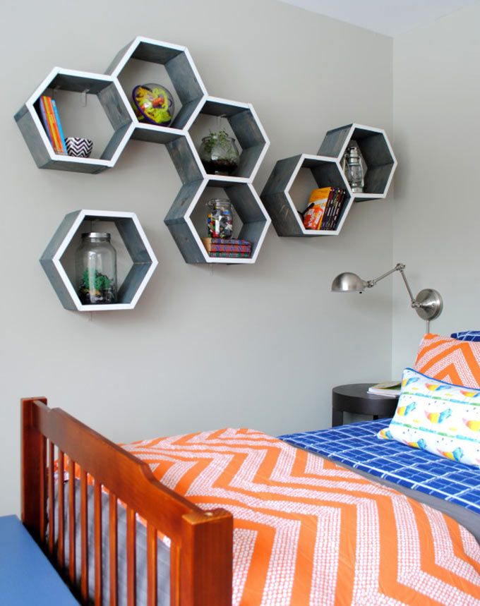 Best Shelves For A Kid S Room Honeycomb Shelves Bedroom Furniture Makeover Boys Bedroom Furniture