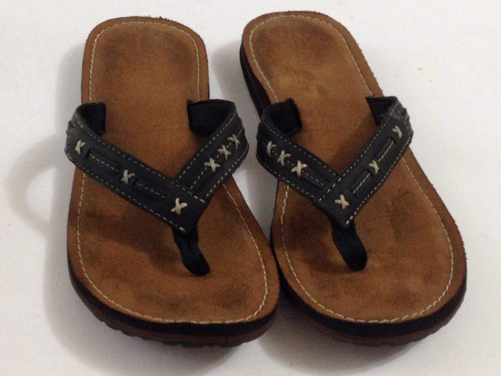 Clarks Women S Flip Flops Thongs Sandals Black Leather Strap Cross Stitching 8 5 Clarks Flipflops Casual Flip Flops Damen Schwarze Sandalen Und Schwarzes Leder