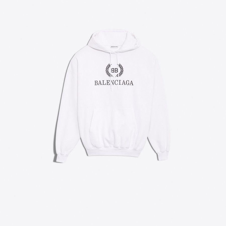 Women S White Bb Balenciaga Oodie Balenciaga Sweatshirts Sweatshirt Shirt Hoodies [ 900 x 900 Pixel ]