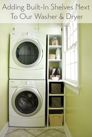 Adding Built In Shelves Next To Our Washer Dryer Laundry Room