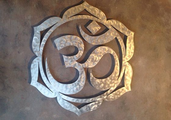 Lotus Om A Metal Wall Art Namaste Metal Art Von Inspiremetals Lotus Flower Art Flower Wall Art Metal Art