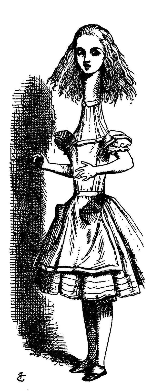 Alice in Wonderland novel | ... Ephemera: Book illustration, 'Alice grows,' Alice in wonderland, 1865