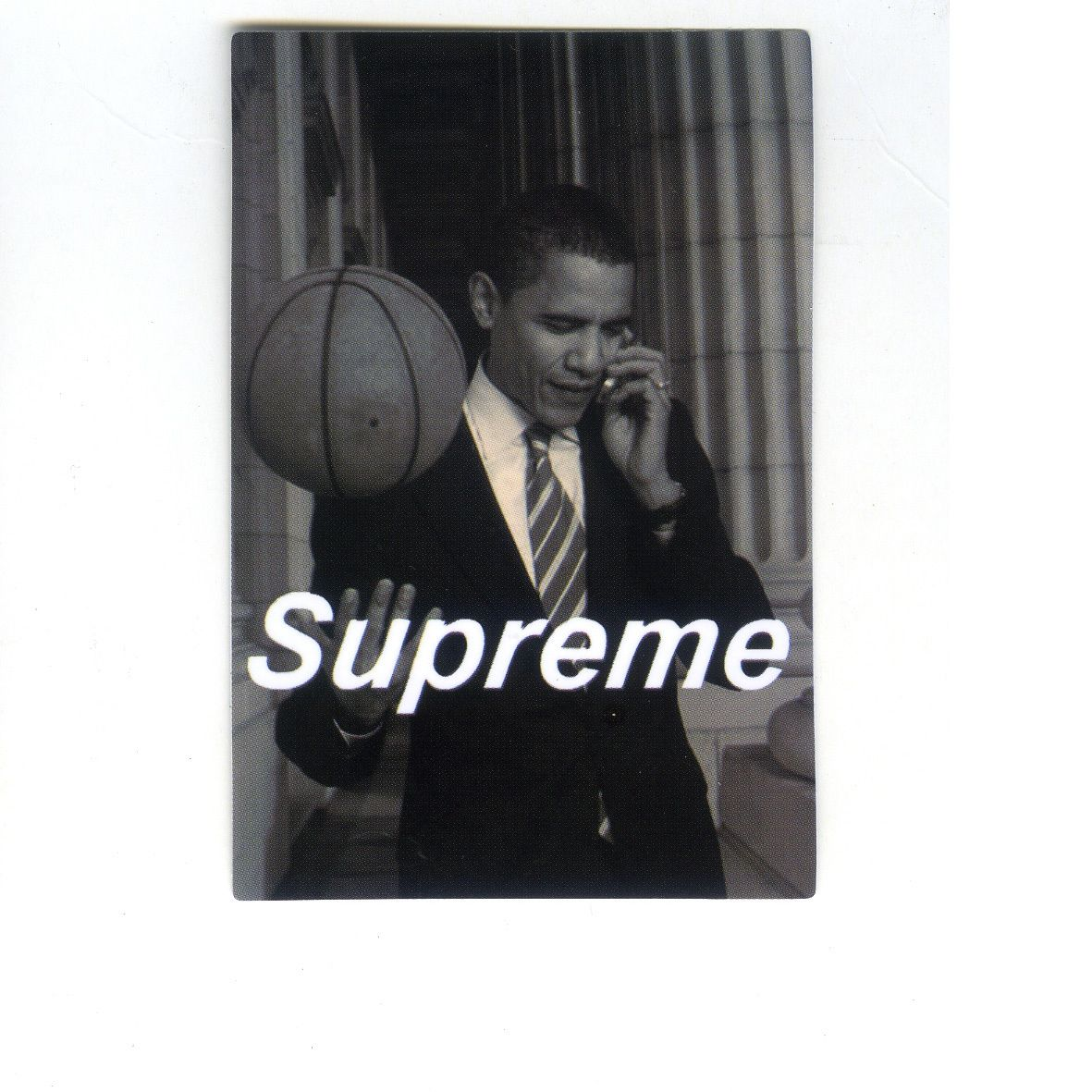 1441 Supreme President Obama Playing Basketball 8 Cm Decal Sticker Supreme Wallpaper Supreme Iphone Wallpaper Hype Wallpaper