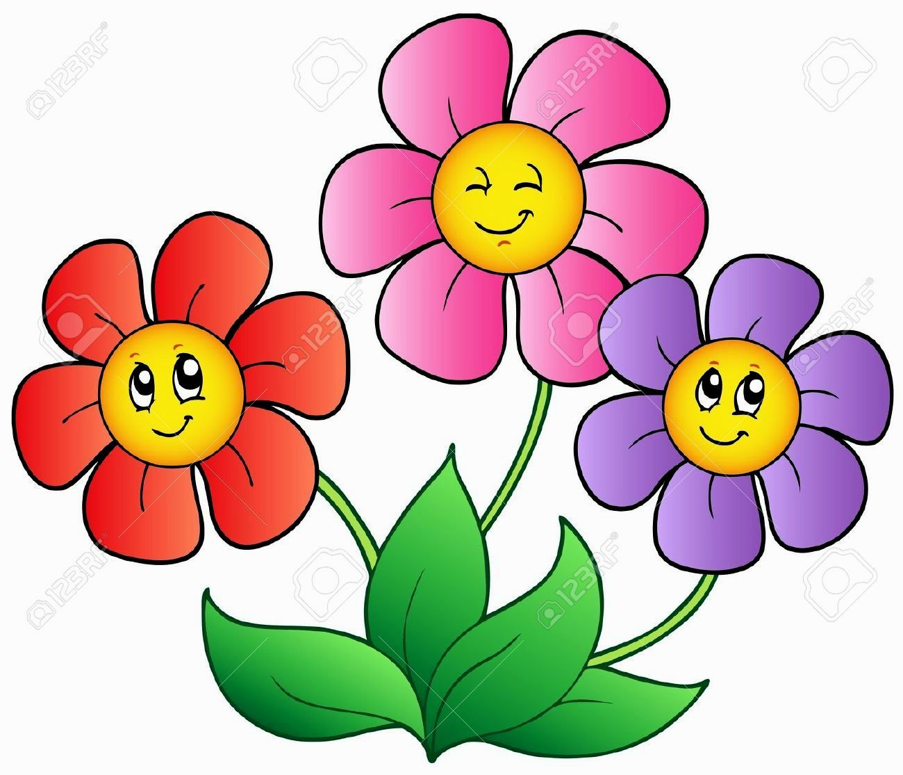 pictures of cartoon flowers visit website for more images rh pinterest com cartoon flower pictures clip art cartoon flower pictures clip art