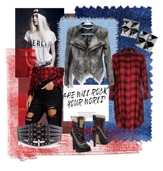 """""""Punk Rock"""" by cherry-cyanide ❤ liked on Polyvore featuring Waterford, ..,MERCI, Dsquared2 and Boohoo"""