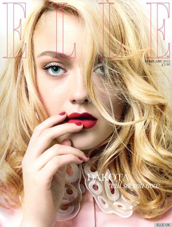 Dakota fanning. Blonde. And makeup.