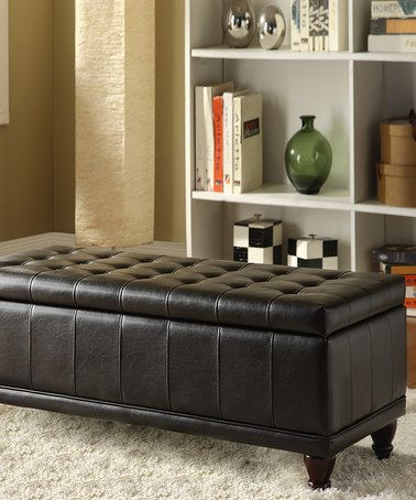 Look what I found on #zulily! Espresso Tufted Eugene Storage Bench #zulilyfinds