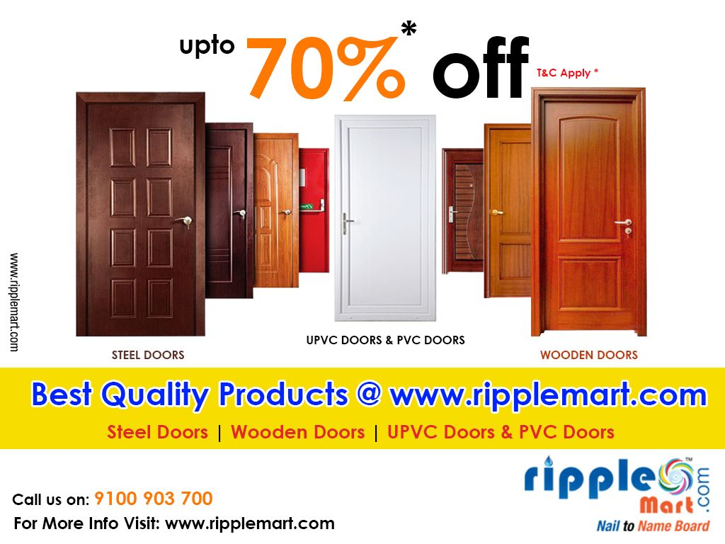 70 off on 👍 Best Quality Steel Doors 🚪, Wooden Doors