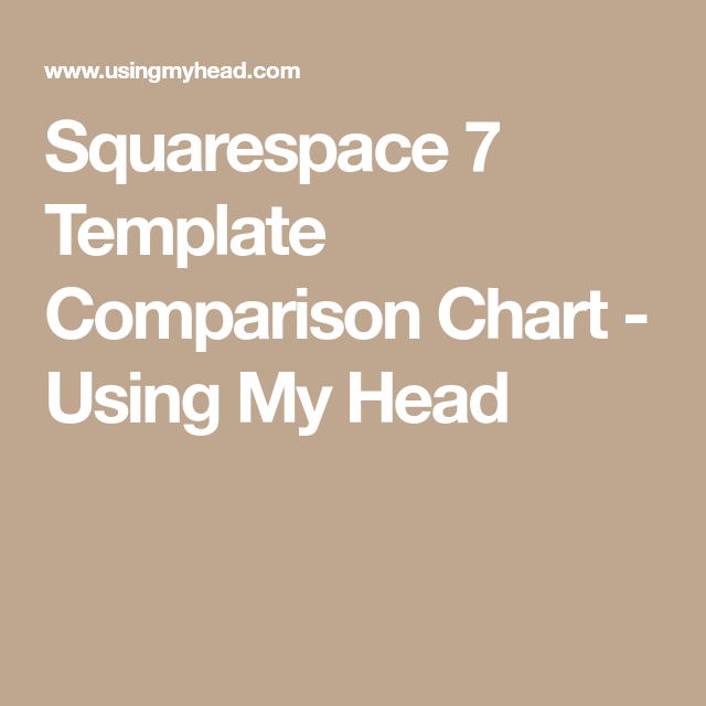 Squarespace 7 Template Comparison Chart - Using My Head | website ...