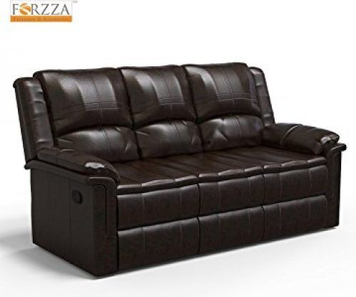 Forzza Ryan 3 Seater Recliner Sofa Charcoal Pu At Rs 24999 From