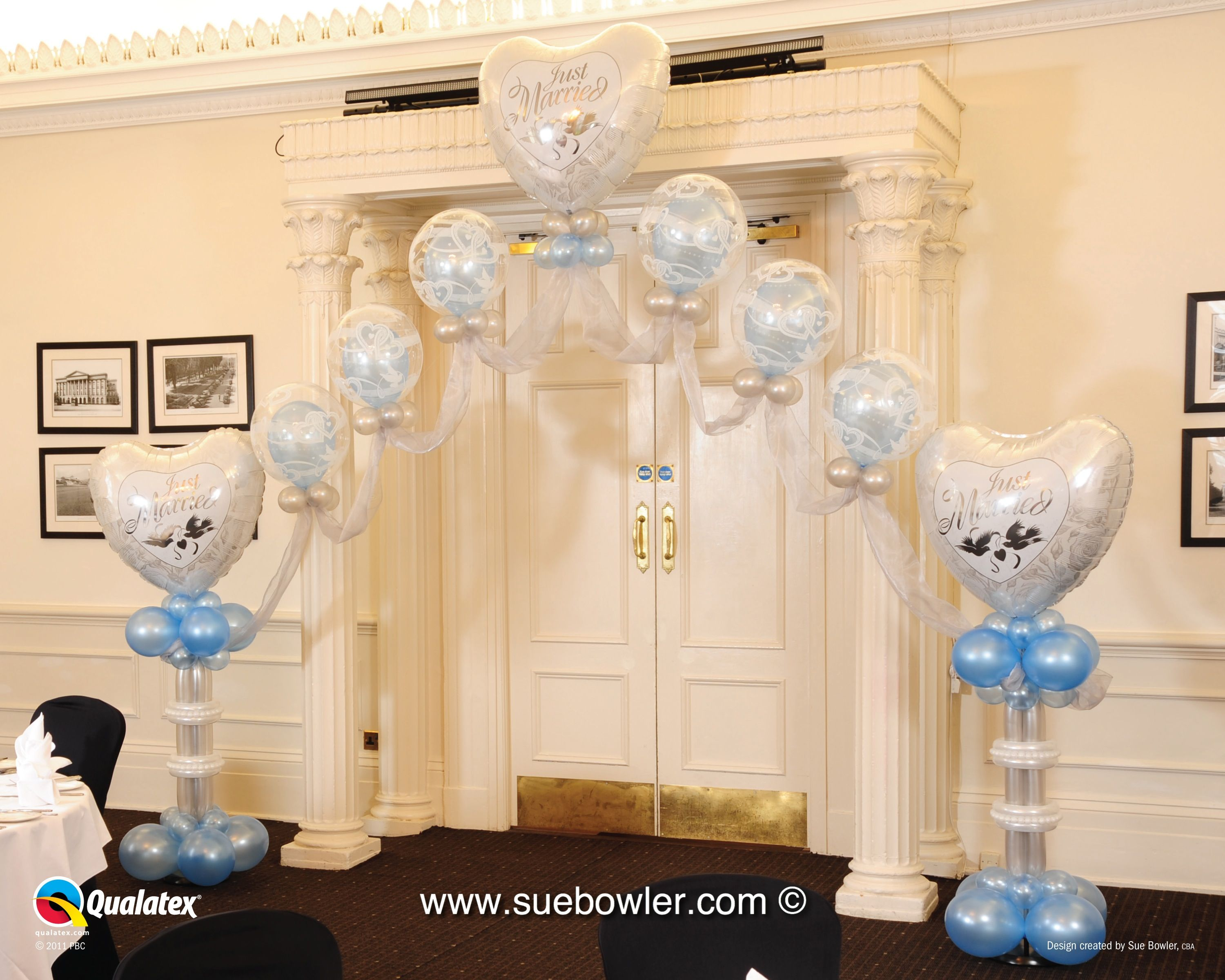 Wedding decorations quotes  Elegant Entrance Decor  Sue Bowler CBA Wedding Series   Balloons