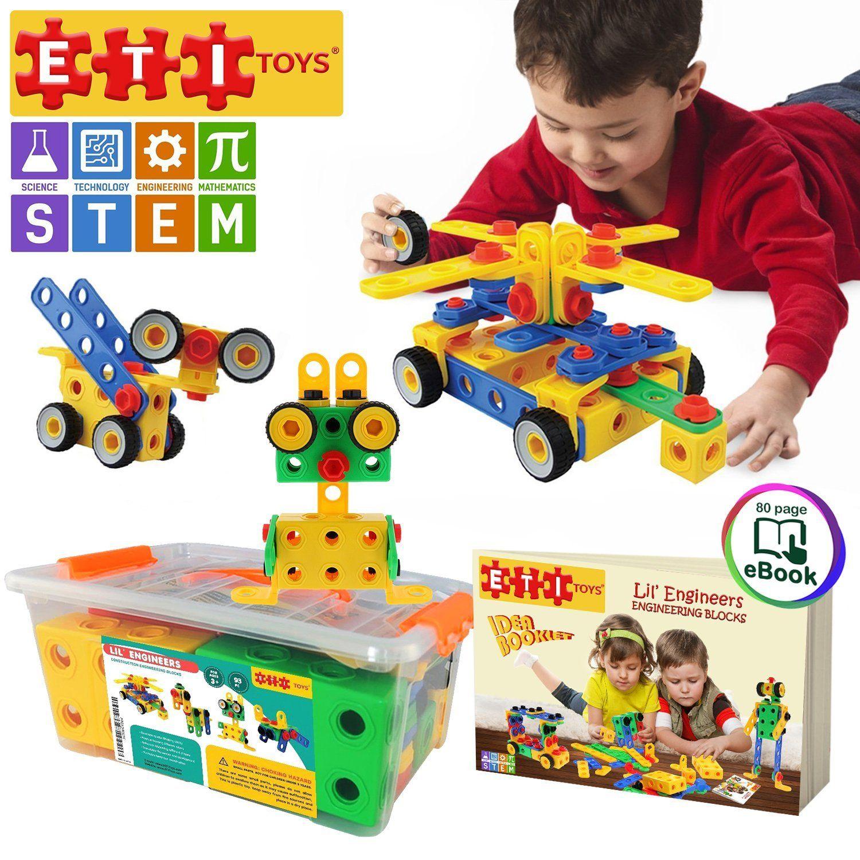 STEM Toys Kit Educational Construction Engineering Building Blocks Learning Set