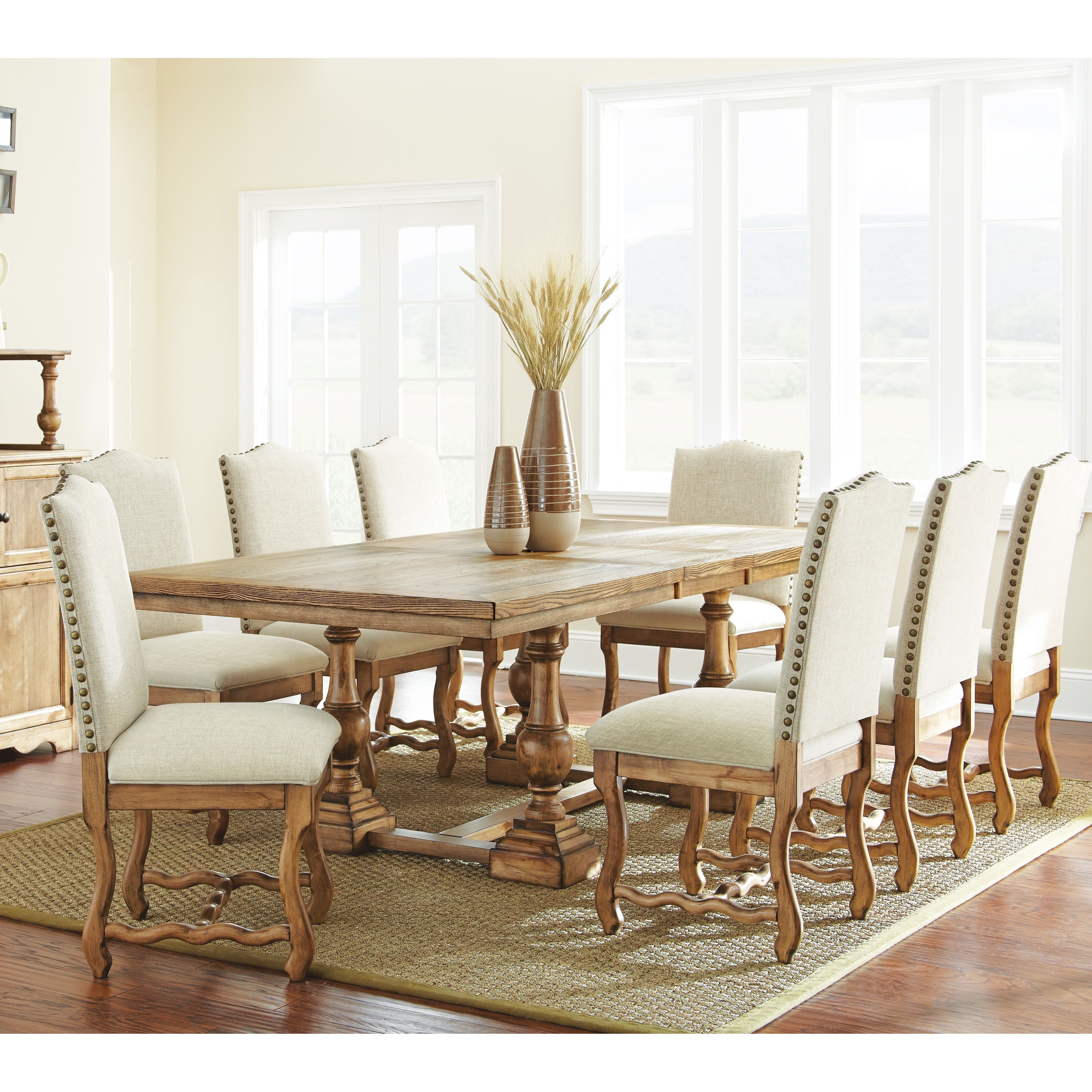 Steve Silver Furniture Plymouth 9 Piece Dining Set Cheap Dining