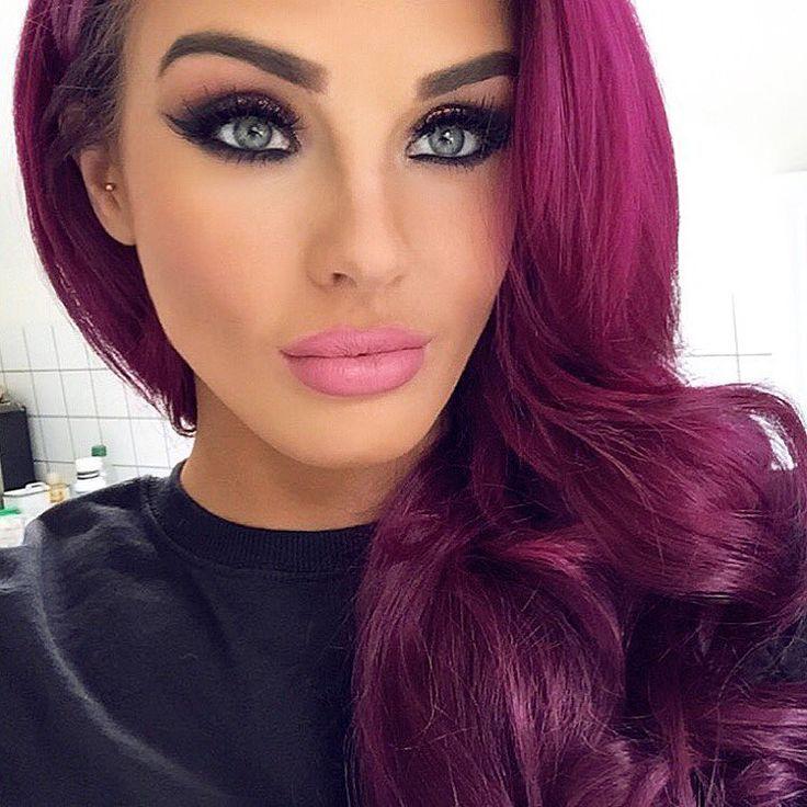 magenta pink hair styles