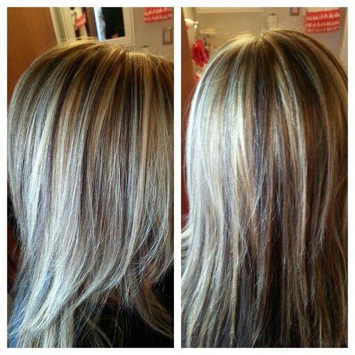 blonde highlight ampbrown lowlights dark underneath hair
