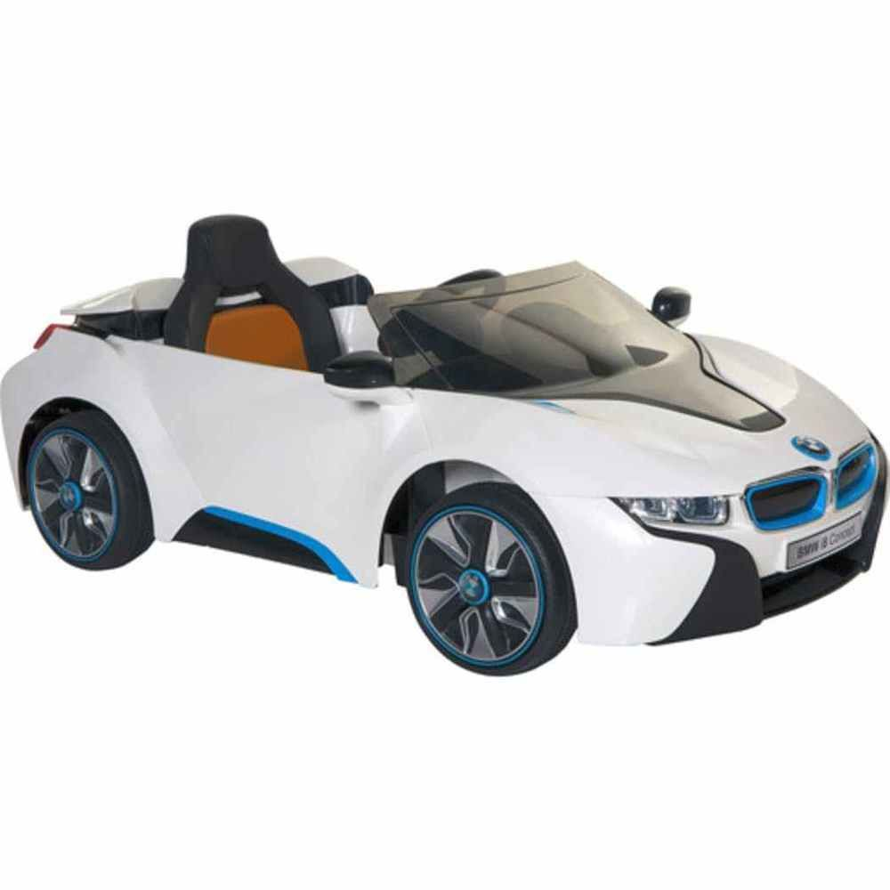 bmw i8 concept 6 volt electric ride on car white blue for kids power