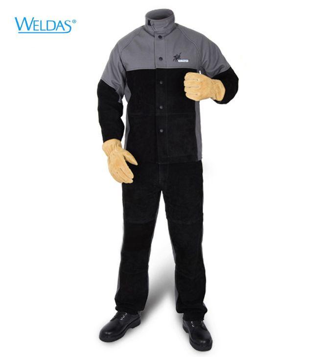 Cheap Fire Retardant Clothing >> Arc Knight Split Cow Leather Flame Retardant Welding Clothing FR Welder Pants Fire Retandant ...