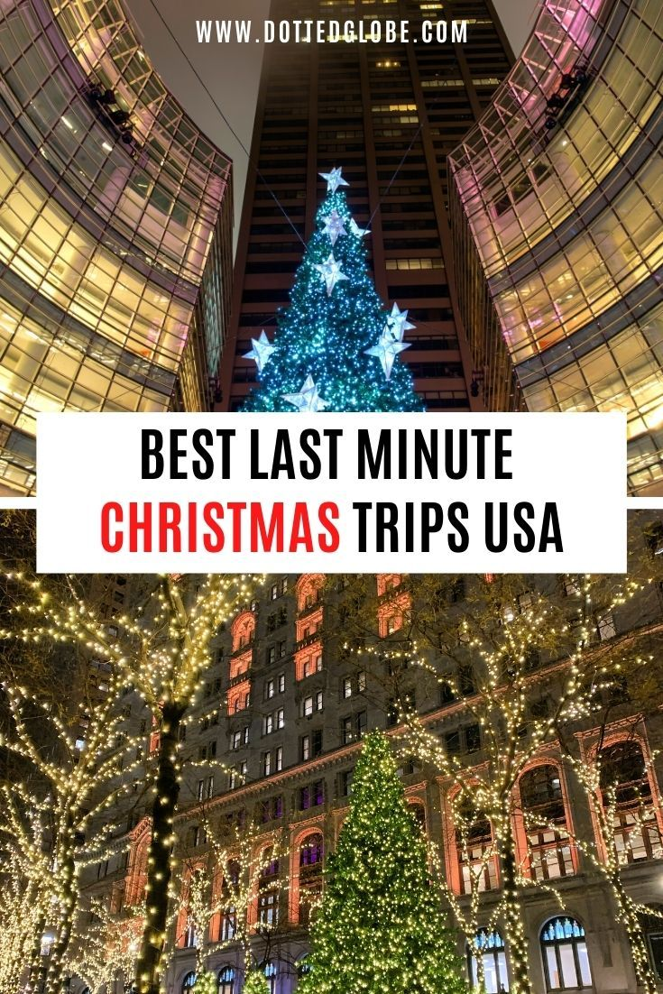 Best Last Minute USA Christmas Trips Ideas in 2020 | Christmas